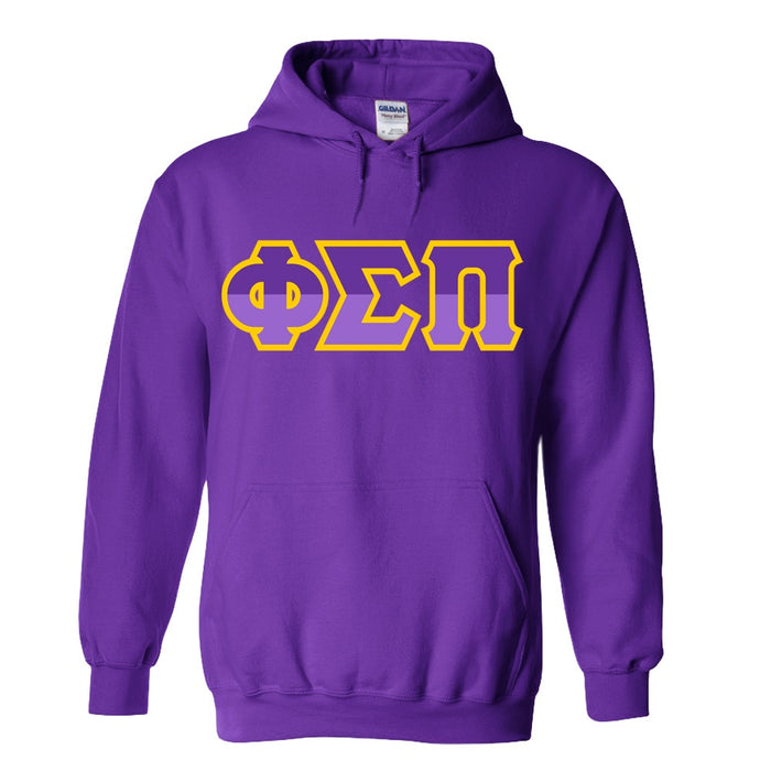 Phi Sigma Pi Two Toned Lettered Hooded Sweatshirt