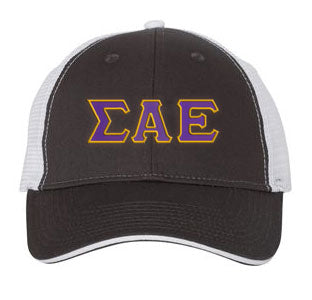 Sigma Alpha Epsilon Greek Trucker Cap