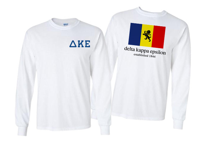 Delta Kappa Epsilon Long Sleeve Flag Tee