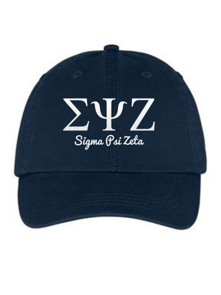Sigma Psi Zeta Collegiate Curves Hat