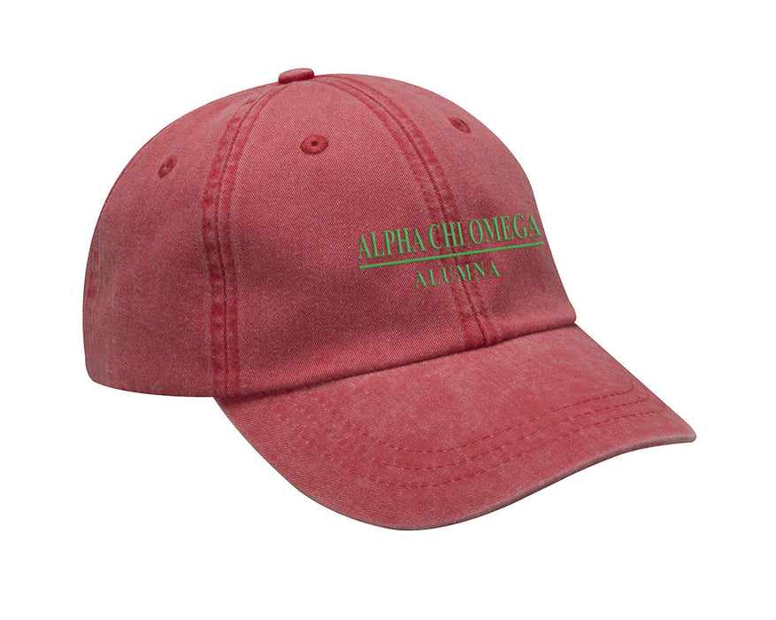 Alpha Chi Omega Line Year Embroidered Hat