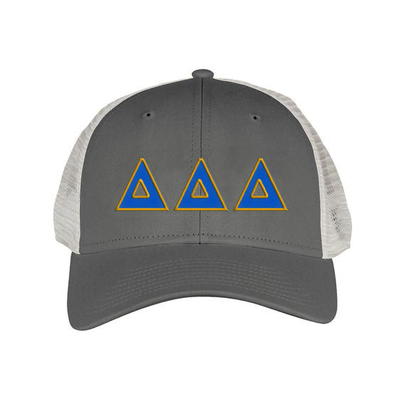 Delta Delta Delta Greek Trucker Cap
