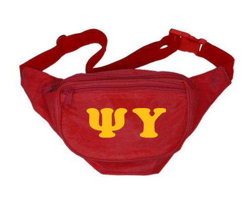Psi Upsilon Letters Layered Fanny Pack