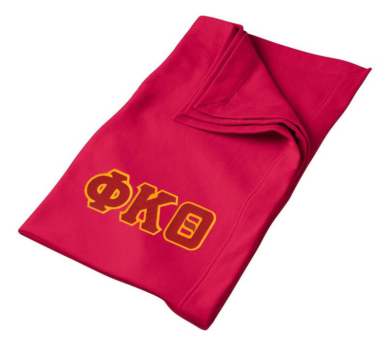 Phi Kappa Theta Greek Twill Lettered Sweatshirt Blanket