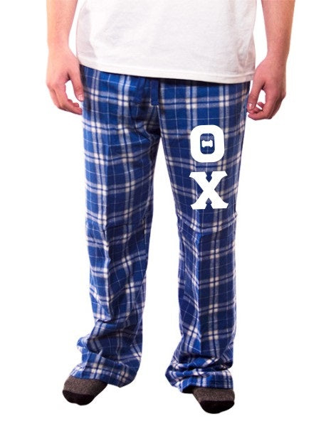 Theta Chi Pajama Pants with Sewn-On Letters