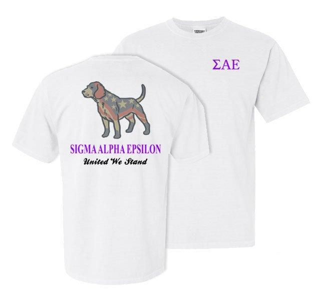 Sigma Alpha Epsilon Stand Tall Comfort Colors Heavy Tee