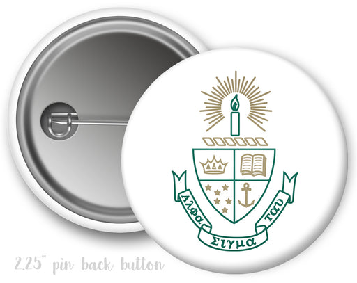 Alpha Sigma Tau Color Crest Button