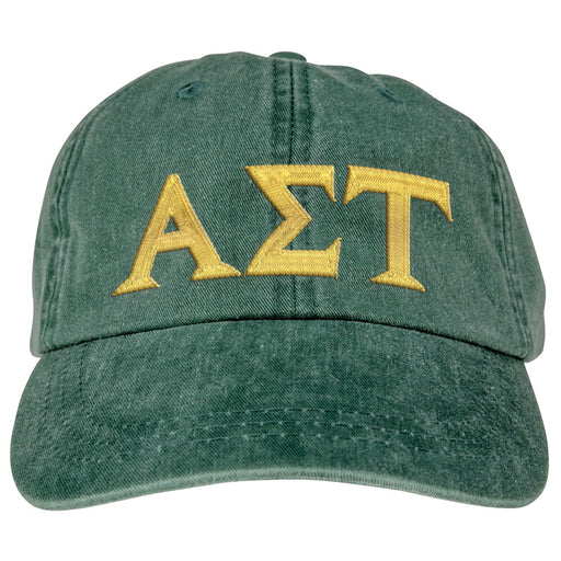 Alpha Sigma Tau Greek Letter Embroidered Hat