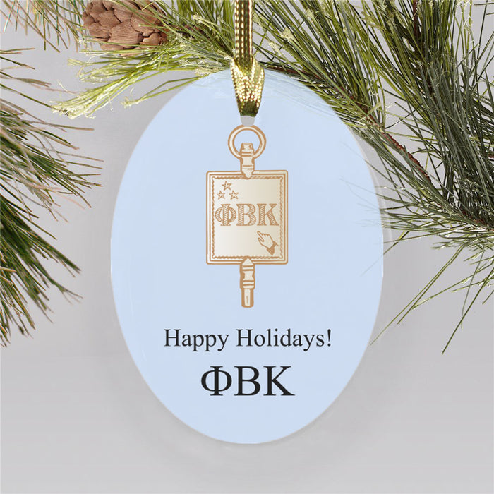 Phi Beta Kappa Color Crest Ornament