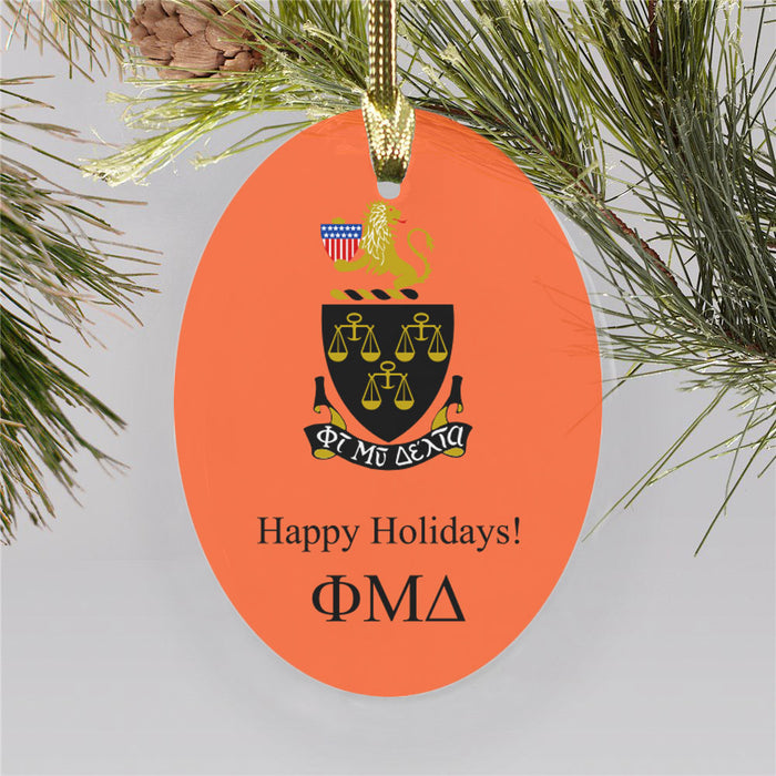 Phi Mu Delta Color Crest Ornament