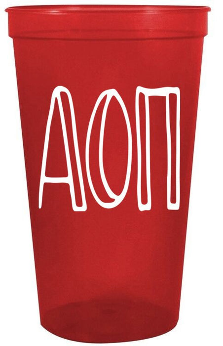 Alpha Omicron Pi Inline Giant Plastic Cup