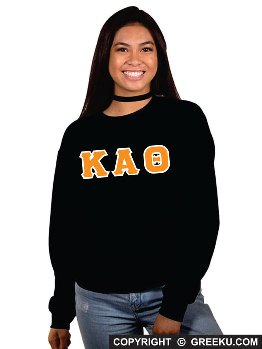 Kappa Alpha Theta Classic Colors Sewn-On Letter Crewneck