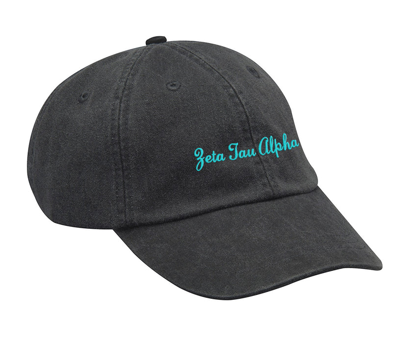 Zeta Tau Alpha Cursive Embroidered Hat