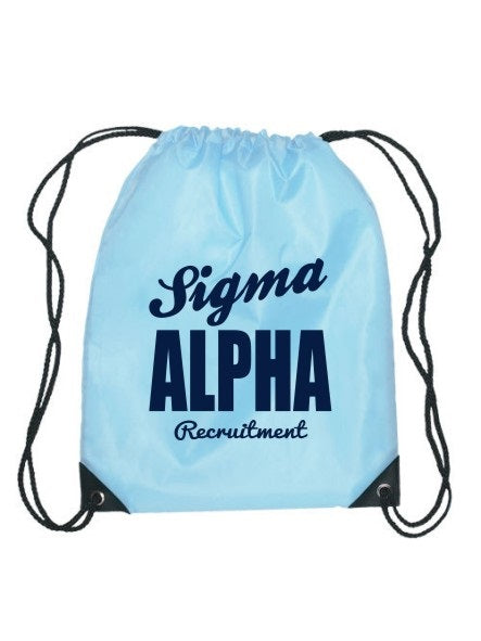 Sigma Alpha Cursive Impact Sports Bag