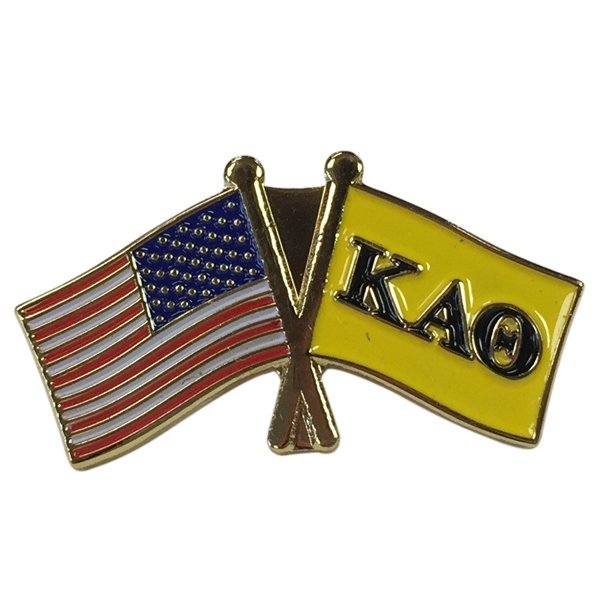 Kappa Alpha Theta Fraternity Flag Pin