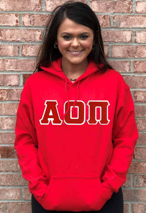 Alpha Omicron Pi Lettered Hoodie