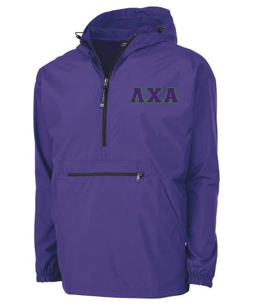 Lambda Chi Alpha Embroidered Pack and Go Pullover