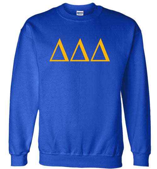 Delta Delta Delta World Famous Lettered Crewneck Sweatshirt