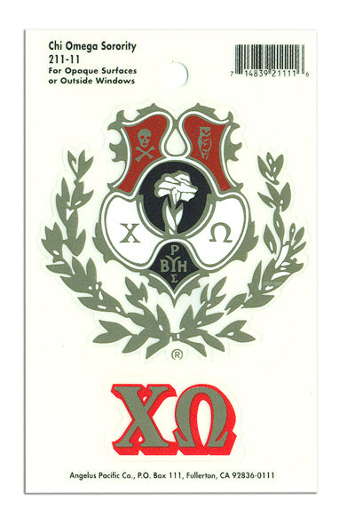 Chi Omega Crest Decal