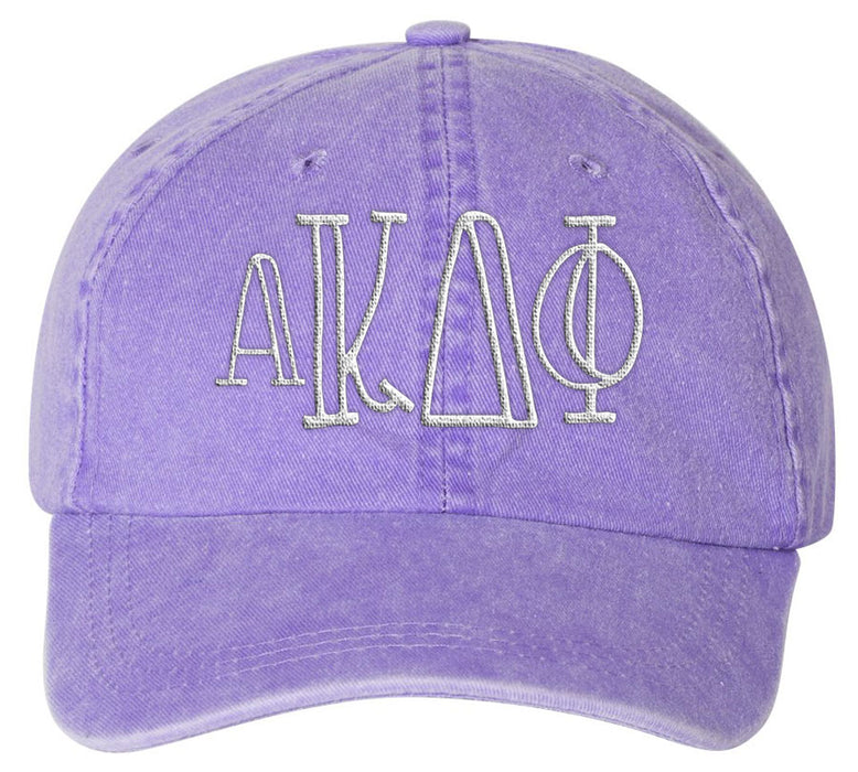 Alpha Kappa Delta Phi Sorority Greek Carson Embroidered Hat