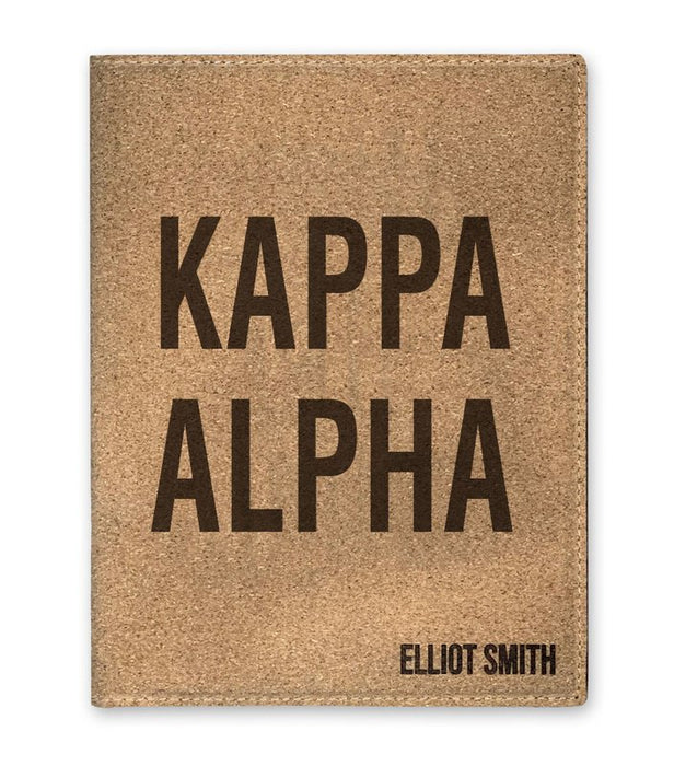 Kappa Alpha Cork Portfolio with Notepad