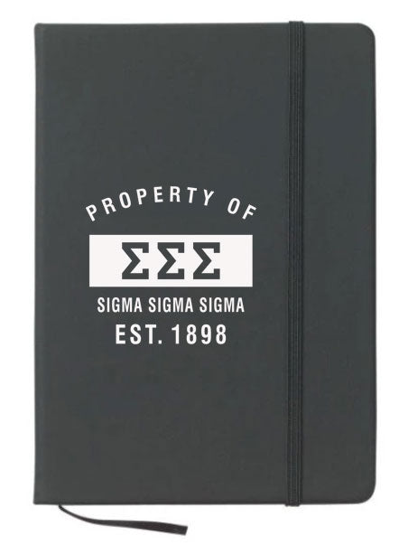 Sigma Sigma Sigma Property of Notebook