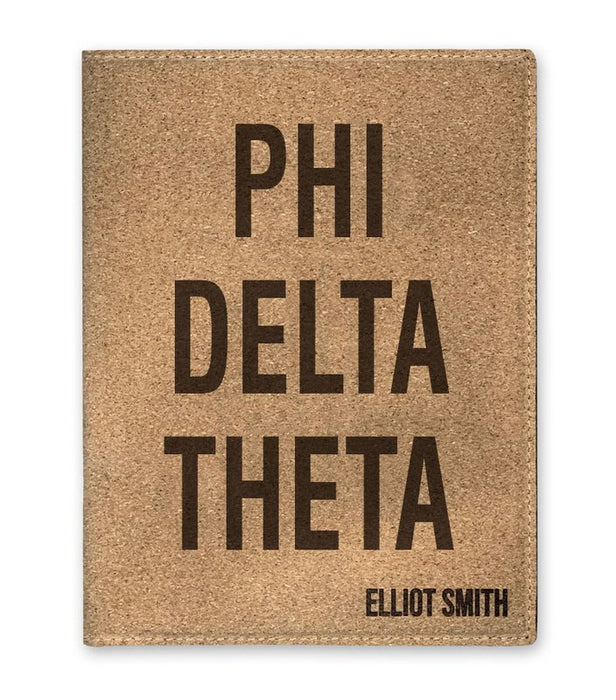 Phi Delta Theta Cork Portfolio with Notepad