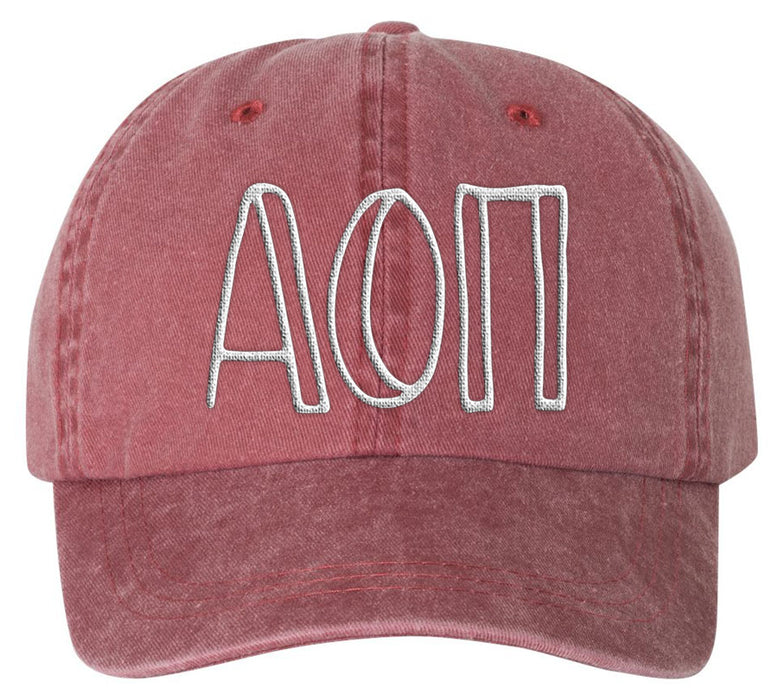 Alpha Omicron Pi Sorority Greek Carson Embroidered Hat