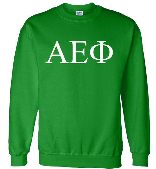 Alpha Epsilon Phi World Famous Lettered Crewneck Sweatshirt