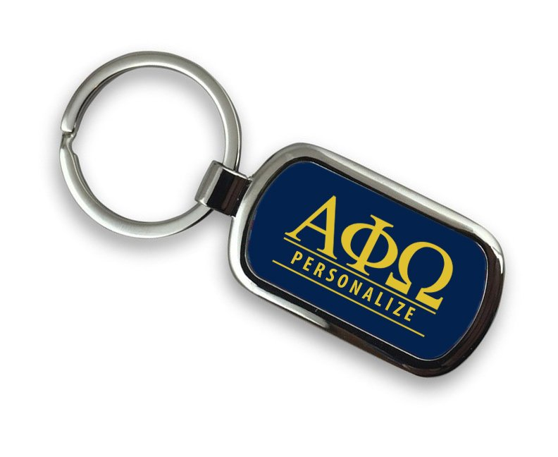 Alpha Phi Omega Chrome Key Chain