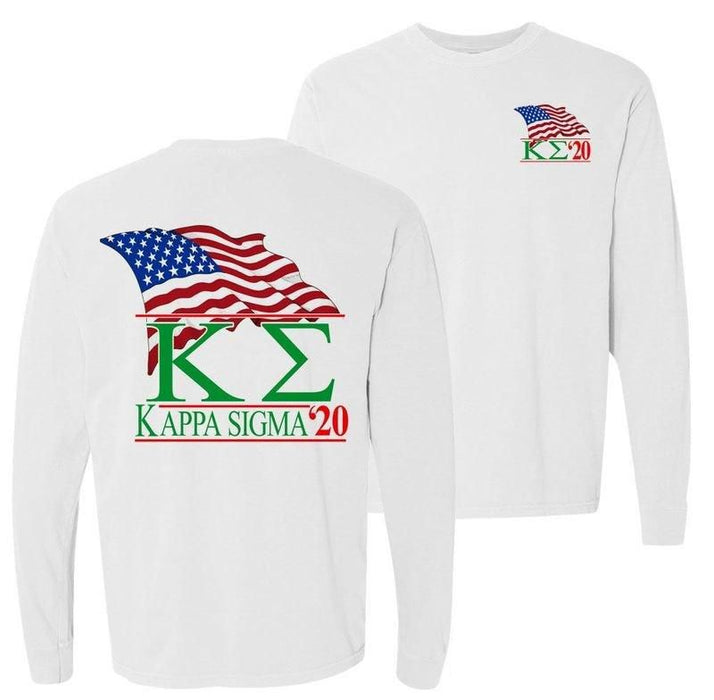 Kappa Sigma Patriot Flag Comfort Colors Long Tee
