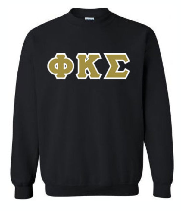 Phi Kappa Sigma Classic Colors Sewn-On Letter Crewneck