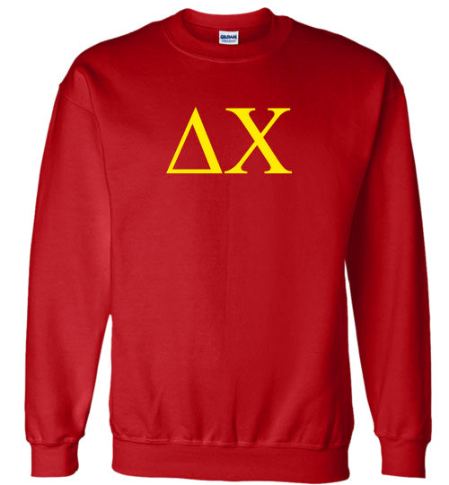 Delta Chi World Famous Lettered Crewneck Sweatshirt