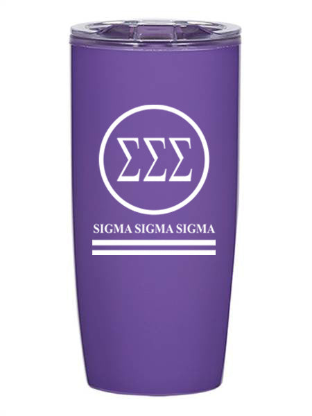 Sigma Sigma Sigma Circle Stripes 19 oz Everest Tumbler