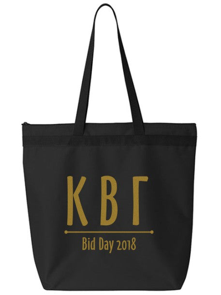 Kappa Beta Gamma Oz Letters Event Tote Bag