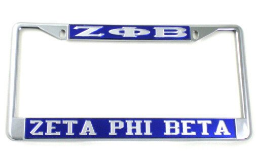 Zeta Phi Beta License Plate Frame