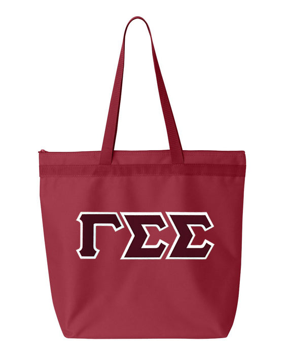 Gamma Sigma Sigma Greek Lettered Game Day Tote