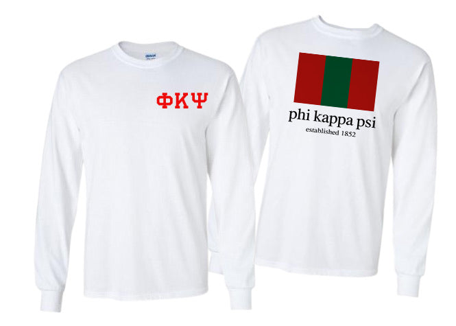Phi Kappa Psi Long Sleeve Flag Tee