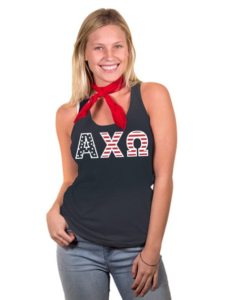 Alpha Chi Omega All American Poly-Cotton Tank