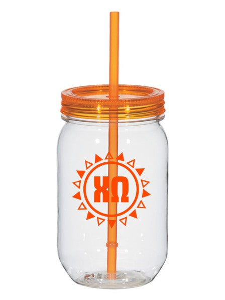 Sun Triangle 25oz Mason Jar