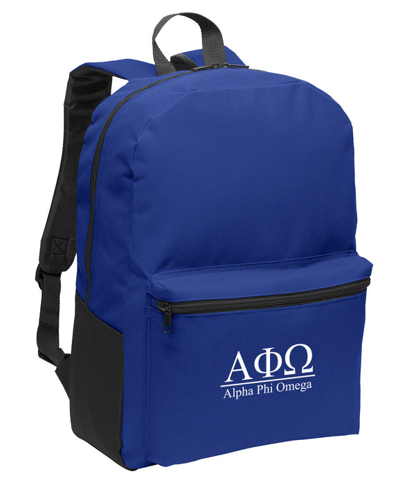 Alpha Phi Omega Collegiate Embroidered Backpack