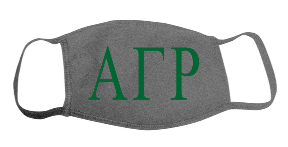 Alpha Gamma Rho Face Mask With Big Greek Letters