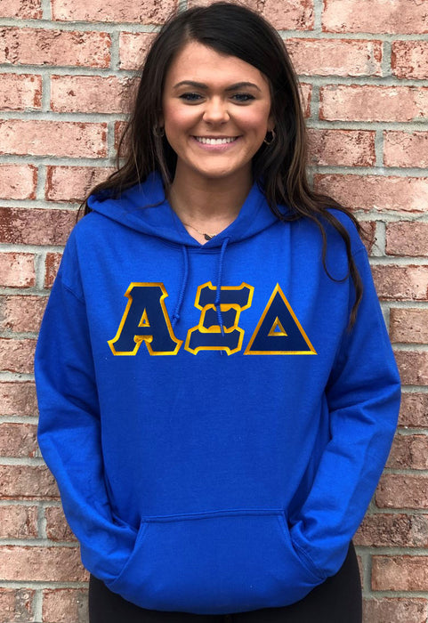 Alpha Xi Delta Lettered Hoodie