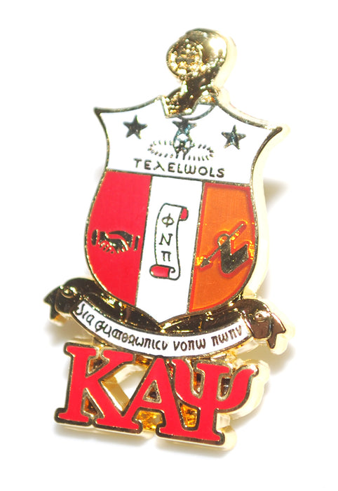 Kappa Alpha Psi Shield With Greek Letters Pin