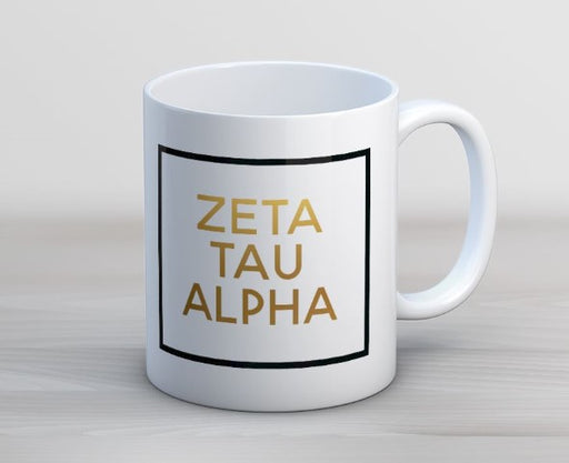 Zeta Tau Alpha Faux Foil Coffee Mug