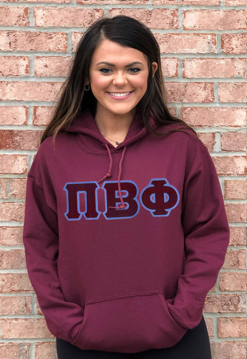 Pi Beta Phi Lettered Hoodie