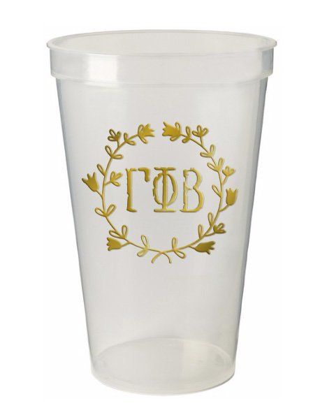 Gamma Phi Beta Wreath Giant Plastic Cup