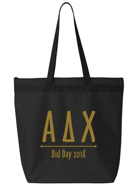 Alpha Delta Chi Oz Letters Event Tote Bag
