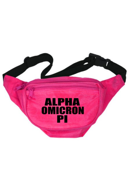 Alpha Omicron Pi Neon Fanny Pack