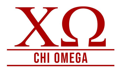 Chi Omega Custom Greek Letter Sticker - 2.5